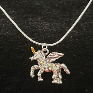 "Sparkling Unicorn  18"" \ .925 Sterling Silver Neck"